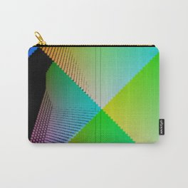 RGB (red gren blue) pixel grid planes crossing at right angles Carry-All Pouch