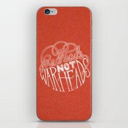 Redheads Not Warheads iPhone Skin