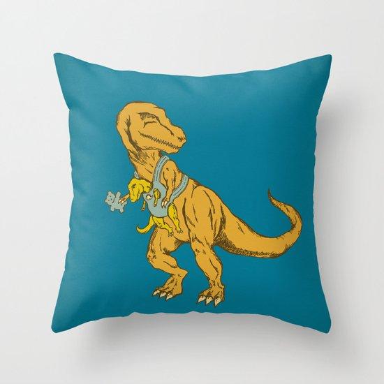 Dinosaur Jr. Throw Pillow