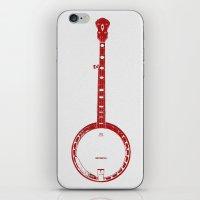 banjo iPhone & iPod Skins featuring Minimalistic Banjo by Katherine Marshall
