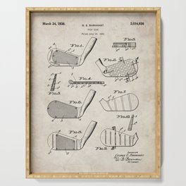Golf Clubs Patent - Golfing Art - Antique Serving Tray