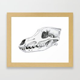 Wolf Skull Framed Art Print