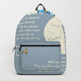 Bird story product, Printed kids product, printed product, bird printable, print gift, printeddreams Backpack