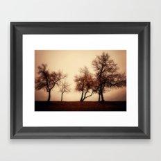 Rust Trees Framed Art Print