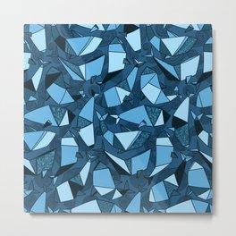 Origami whales Metal Print