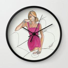 Café Girl Wall Clock