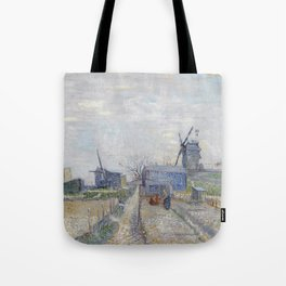 Montmartre - Windmills and Allotments by Vincent van Gogh Tote Bag