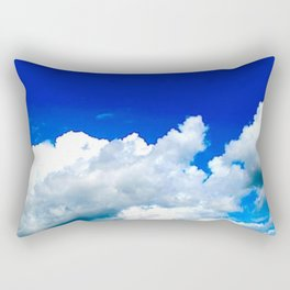 Clouds in a Clear Blue Sky Rectangular Pillow