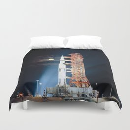 Apollo 17 - Moonlight Launchpad Duvet Cover