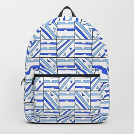symetric tartan and gingham 14 -vichy, gingham,strip,square,geometric, sober,tartan Backpack
