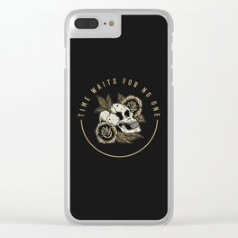 Time waits for no one Clear iPhone Case