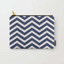 Nautical chevron pattern Carry-All Pouch