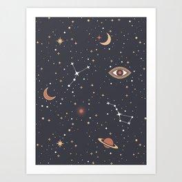 Mystical Galaxy Art Print