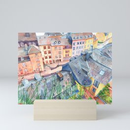 Luxembourg roofs Mini Art Print