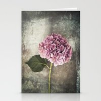 hydrangea Stationery Cards featuring Hydrangea  by Maria Heyens