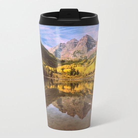 mountains. Mirror Lake Metal Travel Mug