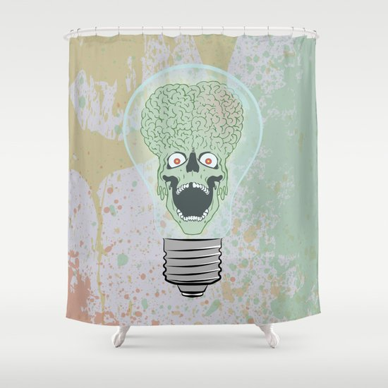 Think Martian  Shower Curtain