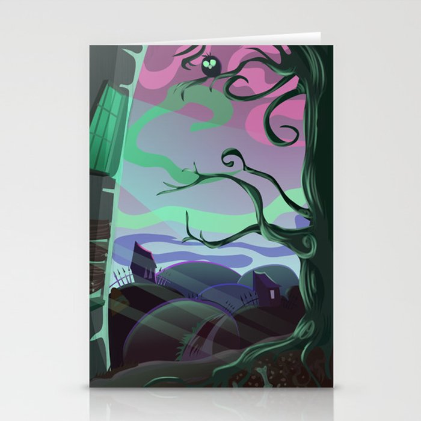 Spooky place Stationery Cards