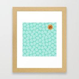 animal crossing villager nook shirt pattern white leaf Framed Art Print