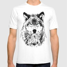 Wolf Eyes Mens Fitted Tee White MEDIUM