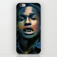 asap rocky iPhone & iPod Skins featuring Asap, long live Rocky by Michaëlis Moshe