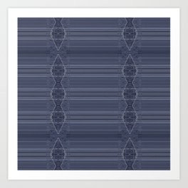 Rich Indigo Blue Diamond Design Art Print