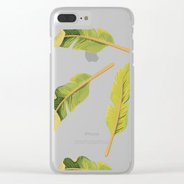 Tropical '17 - Solar [Banana Leaves] Clear iPhone Case