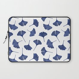 Blue Ginkgo Biloba Pattern Laptop Sleeve