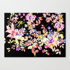 Soft Bunnies black Canvas Print