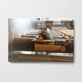 café en Londres Metal Print