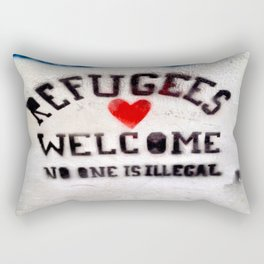 Refugees Welcome Rectangular Pillow