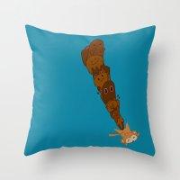 kawaii Throw Pillows featuring kawaii by Eva Puyal