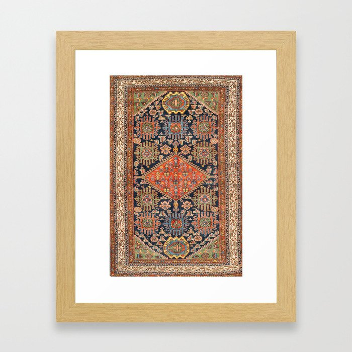 Hamadan  Antique West Persian Rug Print Framed Art Print