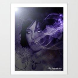 Smoke Fade Art Print