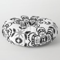 TONDO DESSIN BLACK 17-04-15 Floor Pillow
