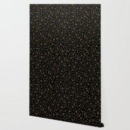 Luxury Gold Black Foil Seed Texture Pattern, Seamless Vector Swatch Wallpaper