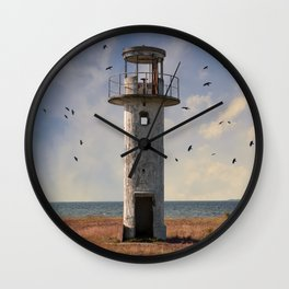 Sunny afternoon at the estonian coast Wall Clock