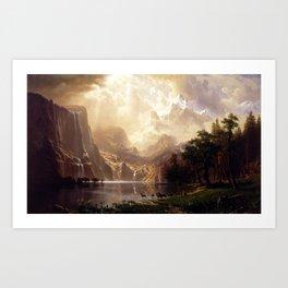 Albert Bierstadt - Among the Sierra Nevada, California Art Print