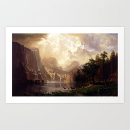 Albert Bierstadt - Among the Sierra Nevada, California Art Print