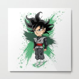 Goku Black (Splatter) Metal Print