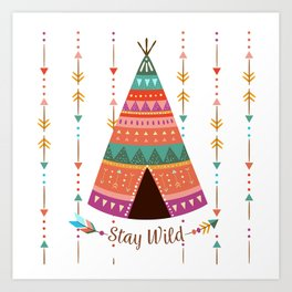Boho Stay Wild Art Print