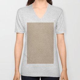 Pantone Hazelnut, Liquid Hues, Abstract Fluid Art Design Unisex V-Neck