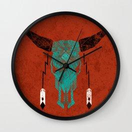Southwest Skull Wall Clock