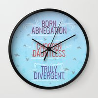 divergent Wall Clocks featuring Truly Divergent by Tiffany 10