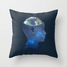 imagine nations Throw Pillow
