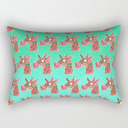 Bougainvillea Unicorn Rectangular Pillow