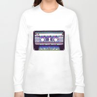tape Long Sleeve T-shirts featuring Mix Tape # 10 by Bianca Green