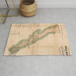 Vintage Baja California Postal Map (1904) Rug