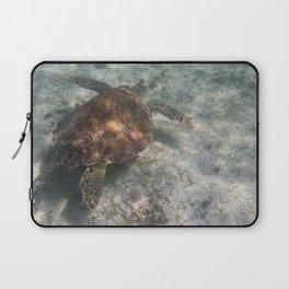 Sea Turtle and Sand Laptop Sleeve