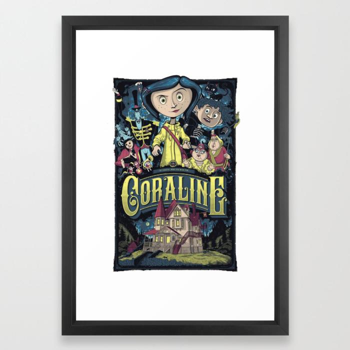 Coraline Framed Art Print By Camisama Society6